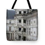 Spiral Staircase In The Francois I Wing - Chateau Blois Tote Bag