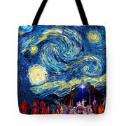 Starry Night In Bethlehem Tote Bag