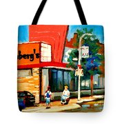 Steinbergs Grocery Store Paintings Vintage Montreal Art Order Prints Originals Commissions Cspandau Tote Bag