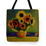Summer Sunflowers  Tote Bag