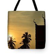 Sunset In The Tempel Tote Bag