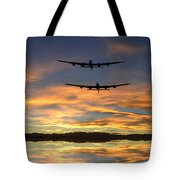 Sunset Lancasters Tote Bag