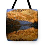 Switchback Peak On Cooney Lake Tote Bag