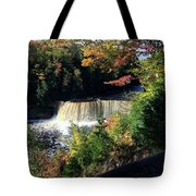 Tahquamenon Falls In Autumn Tote Bag