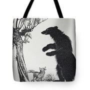 The Bear And The Fox Tote Bag