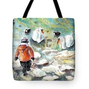 The Child And The Birds On Lake Constance Tote Bag