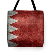 The Flag Of The Kingdom Of Bahrain Vintage Version Tote Bag