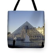 The Glass Pyramid Of The Musee Du Louvre In Paris France Tote Bag