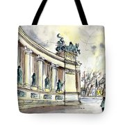 The Millennium Monument In Budapest Tote Bag