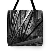 The Old Mill-black And White Tote Bag