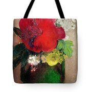 The Red Poppy Tote Bag by Odilon Redon