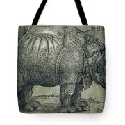 The Rhinoceros Tote Bag by Albrecht Durer