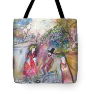 The Show Goes On Tote Bag