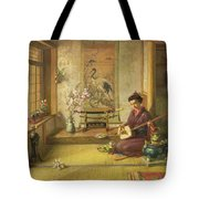 The Stray Shuttlecock Tote Bag by Frank Dillon
