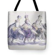 Three Kings Dancing A Jig Tote Bag