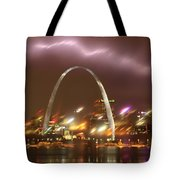 Thunderstorm Over The Arch Tote Bag