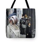 Tibetan Terrier Art Canvas Print Tote Bag