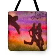 Venice Beach To Santa Monica Tote Bag