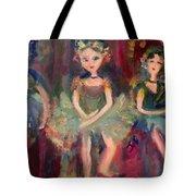 Victorian Christmas Ballet Tote Bag