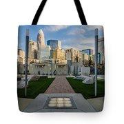 View Of Charlotte Skyline Tote Bag