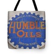 Vintage Humble Oils Sign Jefferson Texas Tote Bag