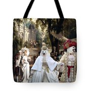 Volpino Italiano Art Canvas Print Tote Bag