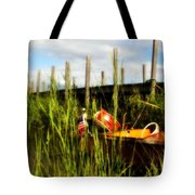 Waiting Girl On Les Cheneaux  Tote Bag