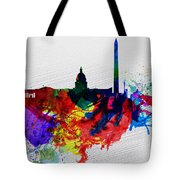 Washington Dc Watercolor Skyline 1 Tote Bag by Naxart Studio