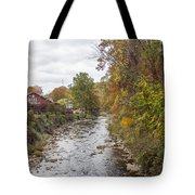White Laural Creek- Mid-town Damascus Tote Bag
