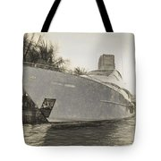 Yacht On The Water Tote Bag