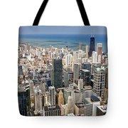 0001 Chicago Skyline Tote Bag