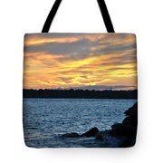 001 Awe In One Sunset Series At Erie Basin Marina Tote Bag