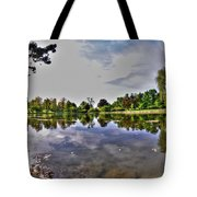001 Reflecting At Forest Lawn Tote Bag