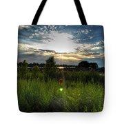 001 Setting Sun At Deyowenoguhdoh  Tote Bag