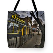 001 Sidelines Sports Bar And Grill Tote Bag
