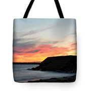 0010 Awe In One Sunset Series At Erie Basin Marina Tote Bag