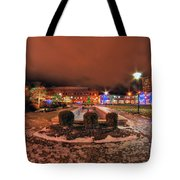 0010 Christmas Light Show At Roswell Series Tote Bag