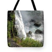 0010 Niagara Falls Misty Blue Series Tote Bag