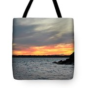 0011 Awe In One Sunset Series At Erie Basin Marina Tote Bag