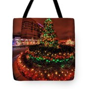 0011 Christmas Light Show At Roswell Series Tote Bag