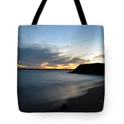 0012 Awe In One Sunset Series At Erie Basin Marina Tote Bag