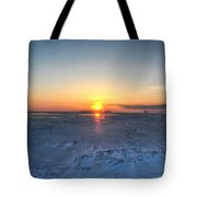 0012 Even On Our Coldest Days We Still Get Blessed With Gorgeous Rays Series Tote Bag by Michael Frank Jr