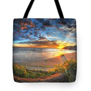 0014 Awe In One Sunset Series At Erie Basin Marina Tote Bag