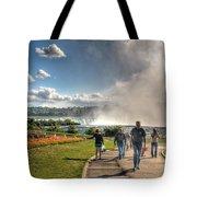 0014 Niagara Falls Misty Blue Series Tote Bag