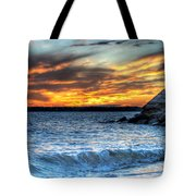 0015 Awe In One Sunset Series At Erie Basin Marina Tote Bag