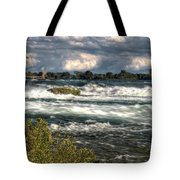 0015 Niagara Falls Misty Blue Series Tote Bag