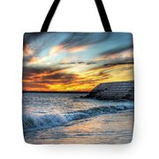 0016 Awe In One Sunset Series At Erie Basin Marina Tote Bag