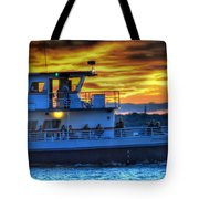 0017 Awe In One Sunset Series At Erie Basin Marina Tote Bag