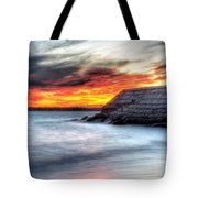 0018 Awe In One Sunset Series At Erie Basin Marina Tote Bag