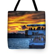 0019 Awe In One Sunset Series At Erie Basin Marina Tote Bag